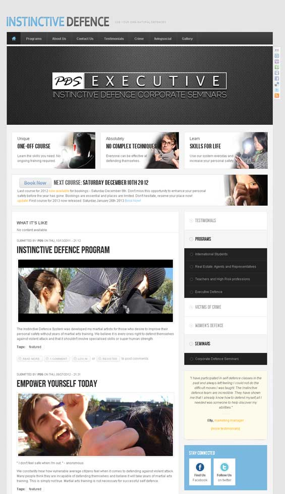 Drupal Theme  TB Sirate used self defence community