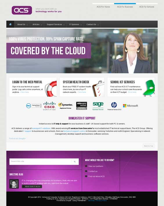 Drupal Theme TB Sirate used for IT Solutions Provider