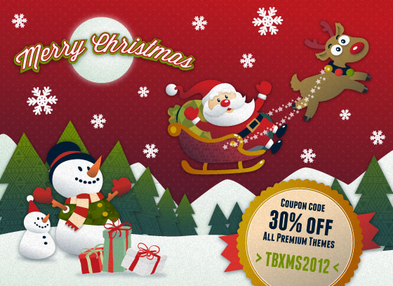 Themebrain Christmas New Year promotion