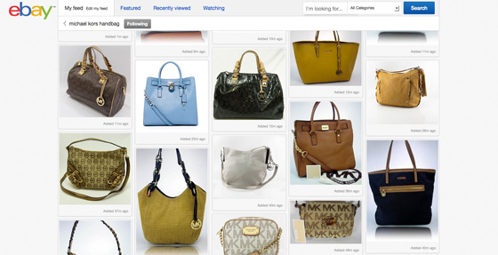 eBay new interface design