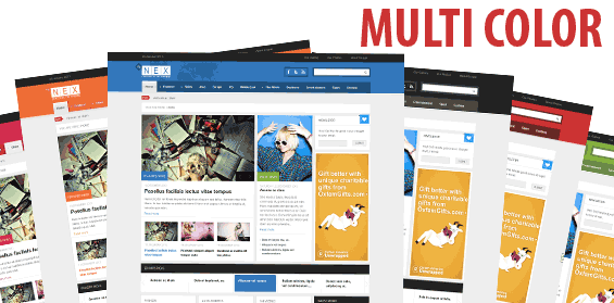 6 different color skins for your news site to choose from