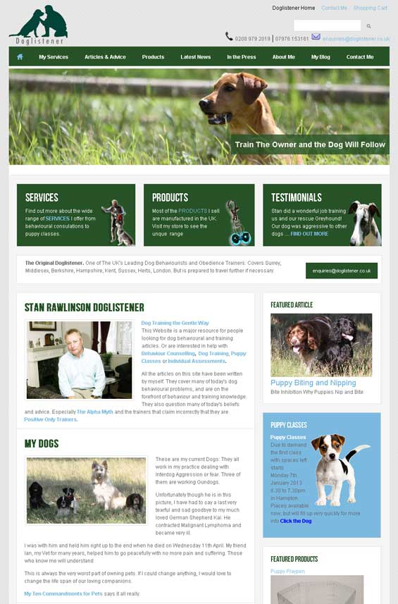 Drupal Theme TB Sirate used for Dog fans and lovers community