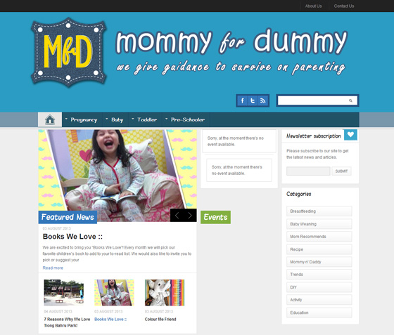 MommyForDummy website