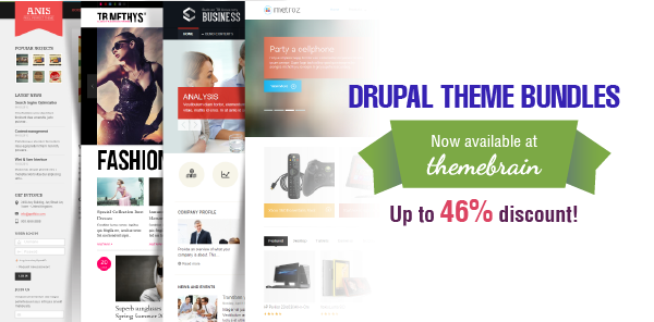 Drupal theme bundles available now at ThemeBrain