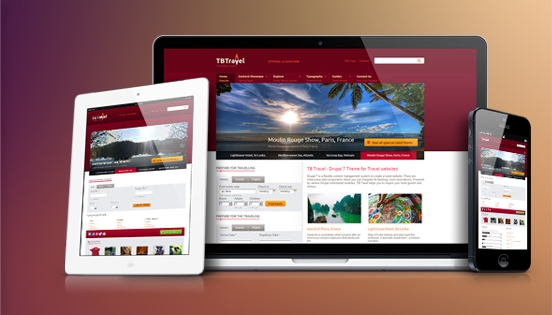 Drupal theme TB Travel is responsive