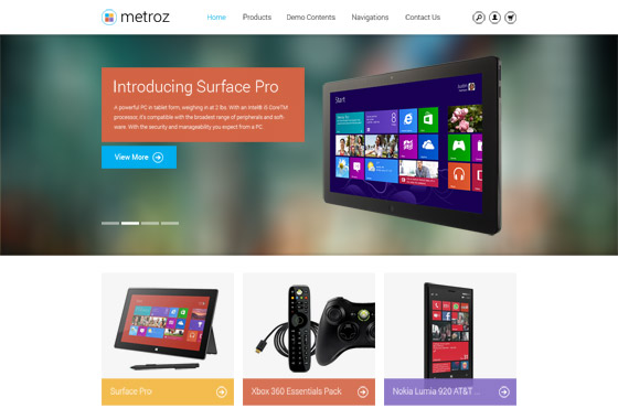 Flat design for Drupal theme TB Metroz