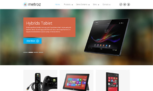 eCommerce drupal theme TB Metroz screenshot - flat design