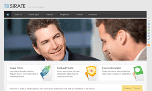 Free responsive Drupal theme - TB Sirate thumbnail screenshot