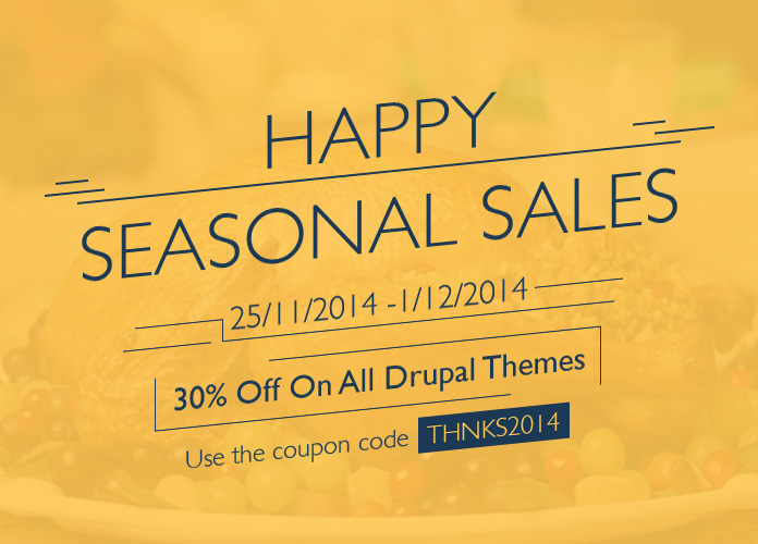 30% OFF on all Drupal Themes
