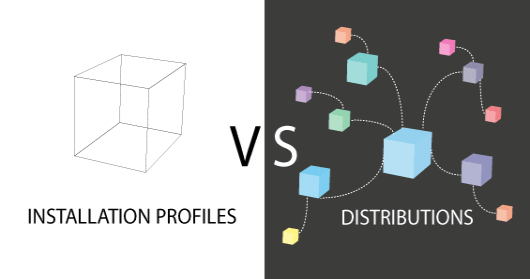 Drupal installation profiles versus Drupal distributions
