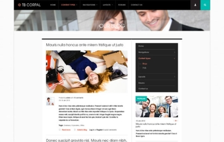 Business drupal theme TB Corpal - Blog page