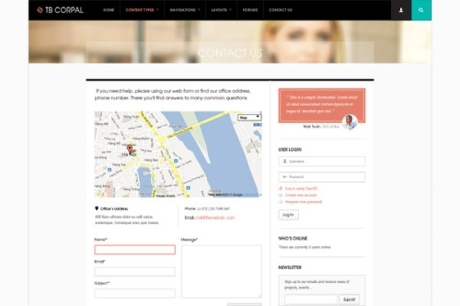 Business drupal theme TB Corpal - Contact Us page