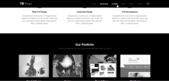 Responsive One Page Drupal Theme TB Page - Menu Bar