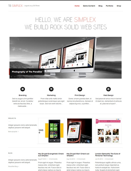 TB Simplex Multipurpose Drupal theme screenshot