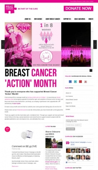 Breast Cancer Campaign Website with Drupal