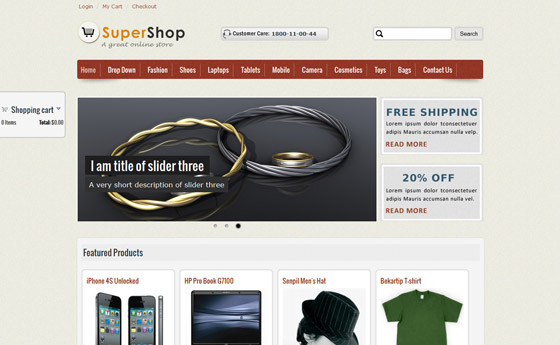Top Ecommerce Drupal themes - 6 Drupal online shop themes you may ...
